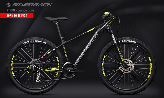 "Велосипед SILVERBACK Stride Comp Black-Lime 29"" (2020)"