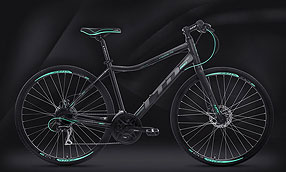 Велосипед LTD Crosslite 860 Lady Black-Turquoise (2020)