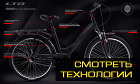 Велосипед LTD Cruiser 640 Lady Monochrome (2020)