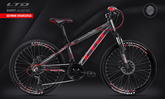 Велосипед LTD Bandit 440 Grey-Red (2020)