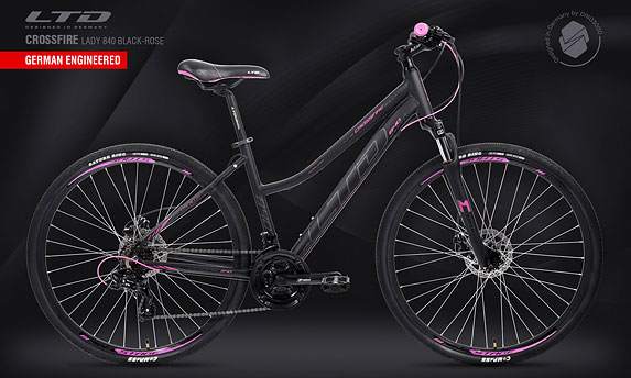 Велосипед LTD Crossfire Lady 840 Black-Rose (2021)