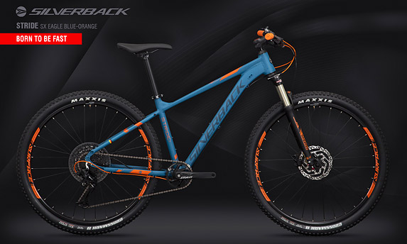 "Велосипед SILVERBACK Stride SX Eagle Blue-Orange 29"" (2020)"